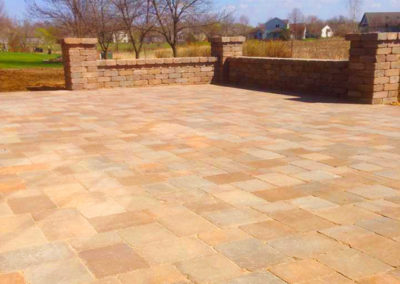 Paver Patio and Wall