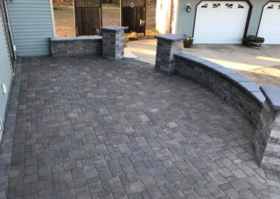 Curved Block Patio