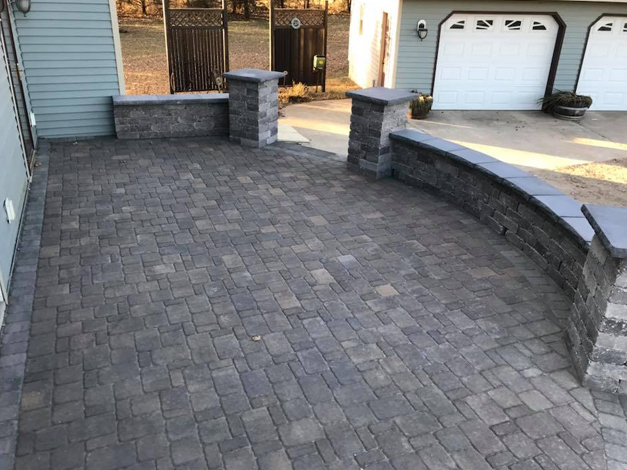 Paver Patio with Steps 1