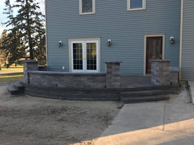 Paver Patio with Steps 2