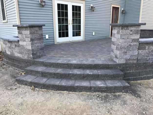 Paver Patio with Steps 3