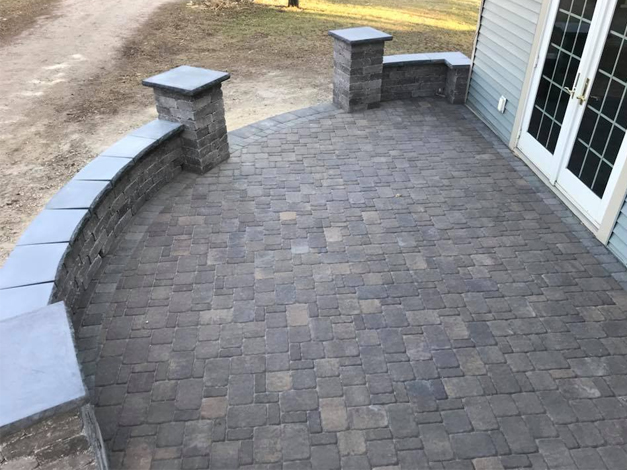 Paver Patio with Steps 4