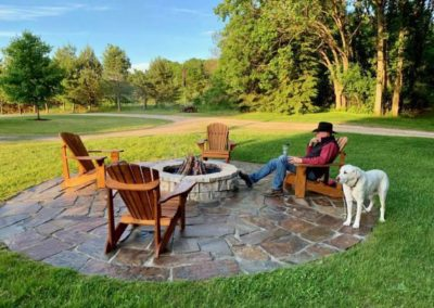 Natural Stone Firepit & Patio